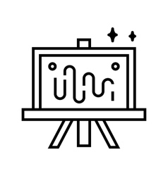 Art tools and materials vector image