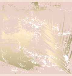 Autumn foliage rose gold blush background vector