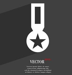 Award medal of honor icon symbol flat modern web vector