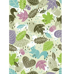 Background of leafs vector