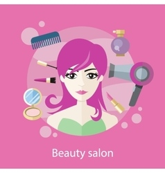 Beauty Salon Concept Flat Style Design vector