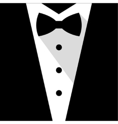 Black and white bow tie tuxedo vector