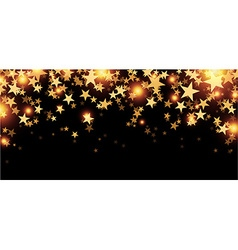 Black starry banner vector