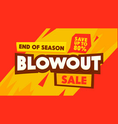 Blowout sale social media promo ad poster banner vector