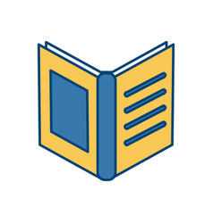 book open isolated vector image