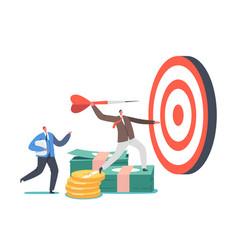Business goals achievement concept tiny vector