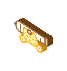 Cannon pirate isometric icon vector