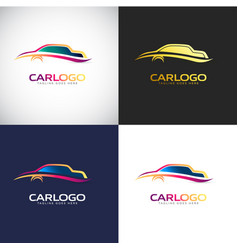 car logo template for your company brand vector image
