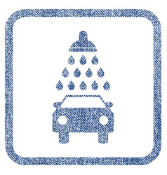 Car shower fabric textured icon vector