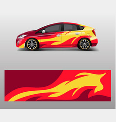 Car wrap decal design graphic abstract flame vector