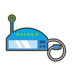 cartoon router internet connection modem vector image
