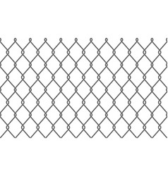 chain-link fence or wire mesh pattern background vector image