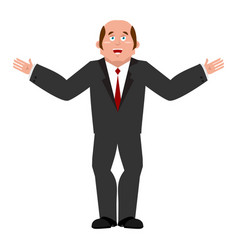 cheerful businessman joyous boss happy manager vector image