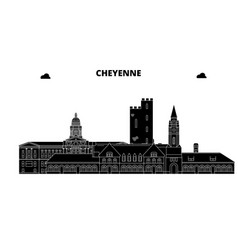 cheyenneunited states skyline travel vector image