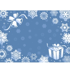 Christmas greeting card in blue hues vector image