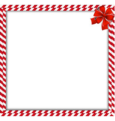 Christmas new year double candy cane border with vector