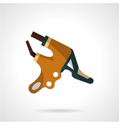 Colored handlebar brake icon vector image