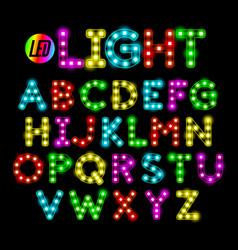 Colorful led strip light alphabet vector