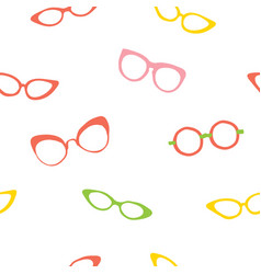 colorful stylish sunglasses seamless pattern vector image