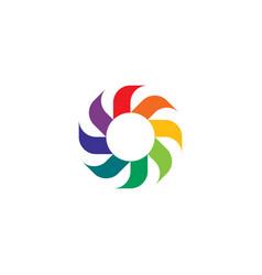 Cooler turbine rotation logo icon symbol vector