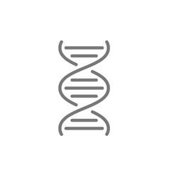 dna molecule line icon vector image