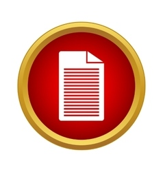 Document Icon simple style vector image
