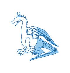 Dragon beast mythology fantasy monster medieval vector