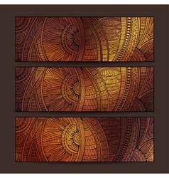 ethnic pattern card set vector image