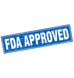 Fda approved square stamp vector