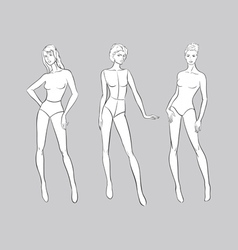 Female Fashion Figurines vector