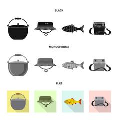 Fish and fishing logo vector