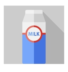 flat milk bottle vector image