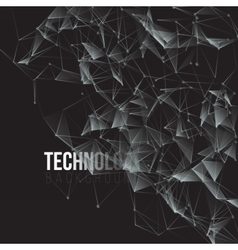 Futuristic Energy Wireframe Background vector image