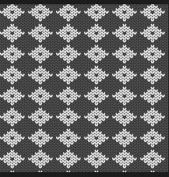 Geometric pattern imitation knitting or vector