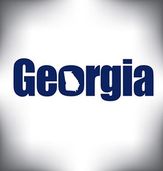 Georgia state graphic vector