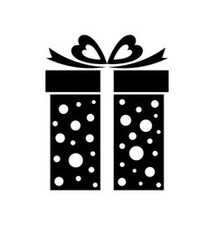 Gift box icon present isolated on white vector