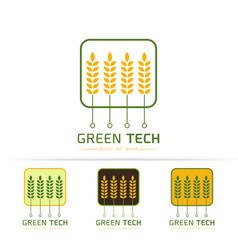 Green technology logo vector