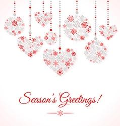 Greetings card with christmas ball made of vector