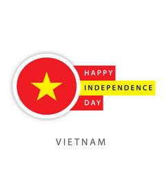 Happy vietnam independence day template design vector