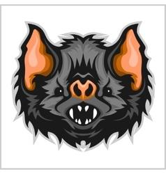 Head vampire bat vector