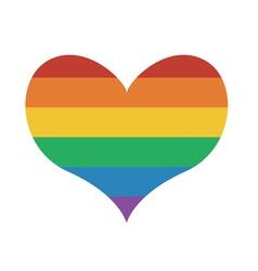 Heart Icon with rainbow flag vector image