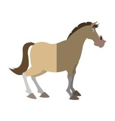 Isolated horse cartoon design vector image