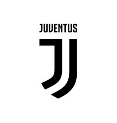 juventus soccer football club logo isolated on vector image