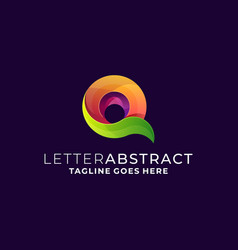Letter abstract template vector