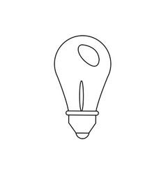 light bulb idea creativity innovation think vector image