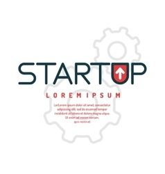 Linear conceptual start up background vector