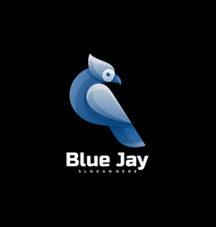 Logo blue jay gradient colorful style vector