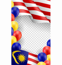 malaysian patriotic template with copy space vector image
