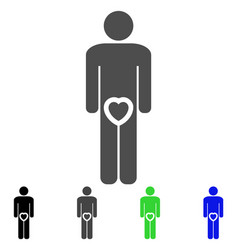 Male love genitals icon vector