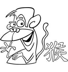 monkey chinese horoscope sign vector image